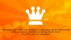 We are his crown