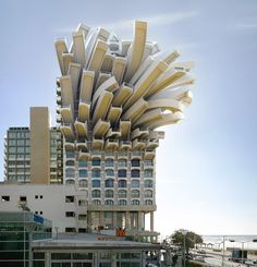 french fries building