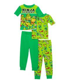 Look at this Green Teenage Mutant Ninja Turtles Academy Pajama Set - Toddler on #zulily today!