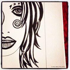 Drawing by Anne Marie Price 2014 www.ampriceart.com #drawing #pen #AMP #ampriceart #ink #girl #original #inspiration