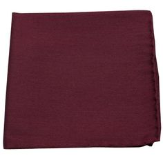 ASTUTE SOLID POCKET SQUARES - BURGUNDY | Ties, Bow Ties, and Pocket Squares | The Tie Bar
