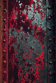 Rust Beam by Logicalx - pretty red patina. Art Grunge, Art Texture, Peeling Paint, Rusty Metal, Art Abstrait, Red And Grey, Red Black, Blue Grey, Textures Patterns
