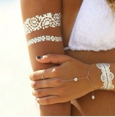 if I ever get one this is what is going to be -metallic tattoos