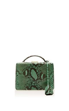 Grace Small Box In Emerald Python by Mark Cross for Preorder on Moda Operandi