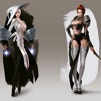 Artstation - black & white, keonhee han fantasy characters, fictional c Fantasy Female Warrior, Warrior Girl, Fantasy Armor, Fantasy Girl, Female Art, Fantasy Character Design, Character Concept, Character Inspiration, Character Art