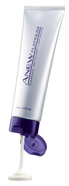AVON ANEW PLATINUM CLEANSER FOR 60+ RICHLY HYDRATES, order at www.youravon.com/jfreemyers