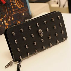 Find More Wallets Information about 2015 New Ms. Wallet Men Wallets Retro Punk Skull Hand bag Model CKQB023,High Quality bag slider,China bag packaging Suppliers, Cheap bag rock from Female-Fashion on Aliexpress.com