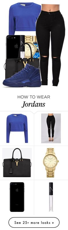"""Goosebumps✨~Travis scott"" by maiyaxbabyyy on Polyvore featuring Lavish Alice, Topshop, NARS Cosmetics, Yves Saint Laurent and NIKE"