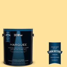 BEHR MARQUEE 1-gal. #P290-3 Roasted Corn Satin Enamel Exterior Paint