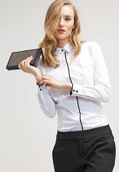 HUGO EDOLLIN - Skjorte - white - Zalando.no Tops, Women, Fashion, Moda, Fashion Styles, Fashion Illustrations, Woman