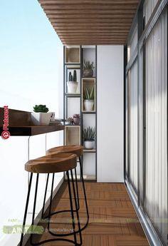 Smart Idea of Turning a Small Balcony Into a Mini Cafe and Bar Condo Balcony, Balcony Bar, Apartment Balcony Decorating, Apartment Balconies, Glass Balcony, Balcony Ideas, Modern Balcony, Small Balcony Decor, Small Balcony Design