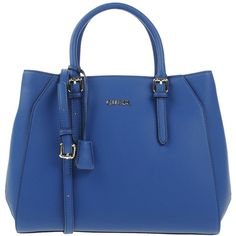 Guess Handbag (3.740 CZK) ❤ liked on Polyvore featuring bags, handbags, blue, shopper handbag, zip bag, zip purse, purse bag and guess purses