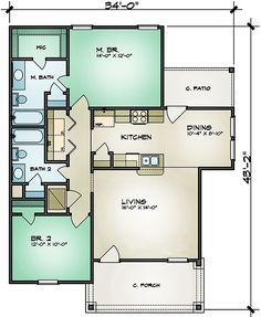 All On One Level - 36923JG | 1st Floor Master Suite, Cottage, Narrow Lot, PDF, Ranch | Architectural Designs