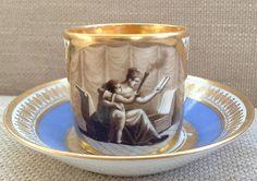DAGOTY PARIS PORCELAIN CUP & SAUCER C.1810