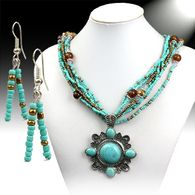 Beaded Fashion Necklace Set w/Pendant