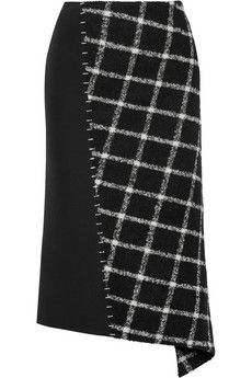 Balenciaga Embellished paneled wool-blend skirt | NET-A-PORTER
