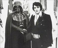Elvis Presley shook hands with Darth Vader