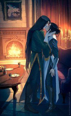 elantra: Lord Nightshade and Kaylin by MathiaArkoniel.deviantart.com on @DeviantArt