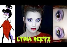 Lydia Deetz Cartoon make up