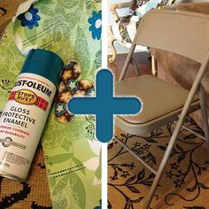 With tips from this Folding Chair Makeover, you can make any chair look fabulous. #ChairMakeover