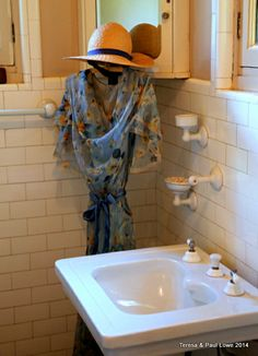 State of the art bathrooms for the time period- 1920's.