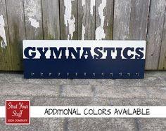 Gymnastic Medal Holder  Gymnastics Navy by StrutYourStuffSignCo, $37.50