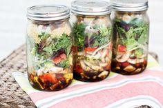 Salad in a Jar - the perfect solution to prepping healthy lunches for the week.