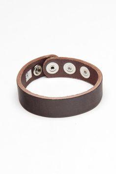 Amigaz Single Plain Brown Strap Bracelet