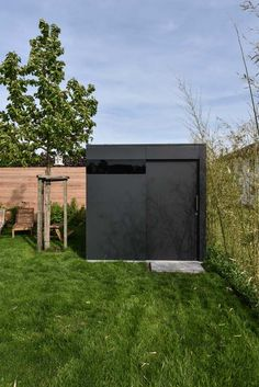 modern shed corrugated metal siding on lower 1 3rd of. Black Bedroom Furniture Sets. Home Design Ideas