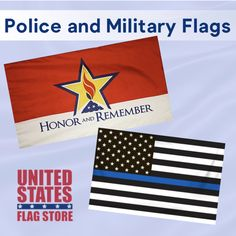 Do you have a loved one who is a police officer or troop? Get 'em something to let them know how special they are. Military Flags, Military Gifts, Flag Display Case, Flag Store, Flags For Sale, Military Branches, Support Our Troops, Prisoners Of War