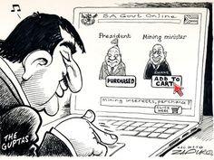 Zapiro: Guptas go online shopping for an SA minister - Mail & Guardian Jacob Zuma, Opinion Piece, Go Online, Best Pal, Political Satire, Folk Music, Comic Strips, South Africa, Presidents