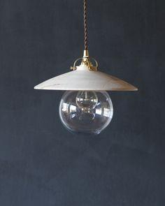 lostine edmund light wood shade glass pendant by Robert Ogden
