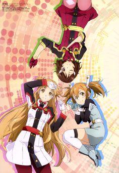 Sword Art Online (Asuna Yuuki, Rika Shinozaki, Keiko Ayano)