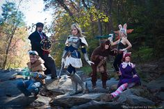 Lux, Ezeal, Riven, Graves, Annie and Tibbers from League of Legends.