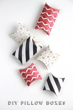 Diy Pillow Boxes.