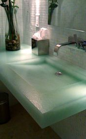 Recycled glass counter tops, Coverings Etc - Bio-Glass Projects