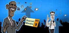 Caracterización del uso de Obama en redes sociales, frente a Romney que sigue apostando por medios tradicionales.