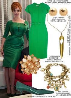 For Eliza's party...Christina Hendricks mad men retro fashion Joan style copy