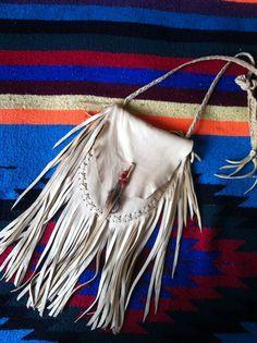 DEERSKIN Fringe Native American Medicine Bag