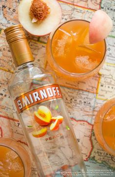 Going camping? This easy Peach Pit Punch is an easy drink for summer vacation and weekend getaways. Recipe: 1.5 cups Smirnoff Peach, 1.5 cups Orange Juice, 1.5 cups Cranberry Juice, Peach Slices, Serves 6-8 Happy Campers.