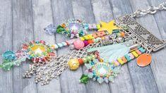 Bunte hippie bettelkette lässige glasperlenkette lang | Etsy