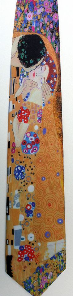 New The Kiss Gustav Klimt Mens Necktie Artist Paintings Art Marlin Neck Tie #RalphMarlin #NeckTie