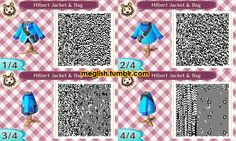 ACNL Hilbert's Jacket and Bag by meglish on DeviantArt