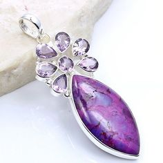 Large Fabulous Sterling Silver Purple Mohave Turquoise, Amethyst Pendant  Price : $43.95 http://www.silverplazajewelry.com/Fabulous-Sterling-Silver-Turquoise-Amethyst/dp/B00GW240AQ