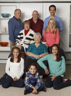 Four Generations One Roof ~ multigenerational family ages 5 - 85 all living together under one roof.