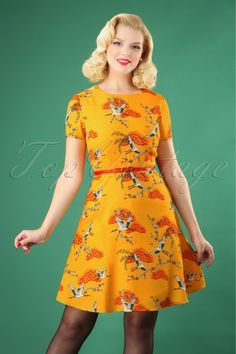 1f8706f685a Sugarhill Boutique Ohara Birds Dress in Yellow 102 89 25569 20180821 0003W