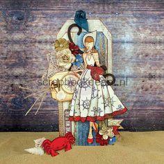 Scrapbookdepot - Julie Nutting Doll Cling Stamp - Camille