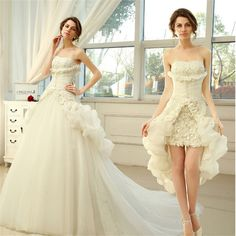 http://www.aliexpress.com/store/product/New-Style-Two-Piece-Princess-Wedding-Dress-Short-Front-Long-Back-Bride-Dress-With-Long-Tulle/2226061_32681213371.html160.65doller