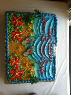 Flip Flop cake Cookie Cakes, Cupcake Cakes, Cupcakes, Cookies, Boy Birthday, Birthday Cakes, Birthday Ideas, Birthday Parties, Luau Party