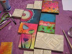 Con Tus Manos: En proceso Art Journal Pages, Art Pages, Abstract Painting Techniques, Dot Art Painting, Multiple Canvas Paintings, Arte Elemental, Inspiration Artistique, Mandala Art Lesson, Art Curriculum
